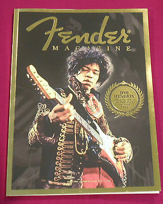 Original 2013 Fender Magazine, Mint, Volume 2, Hendrix On Cover, Free Shipping !
