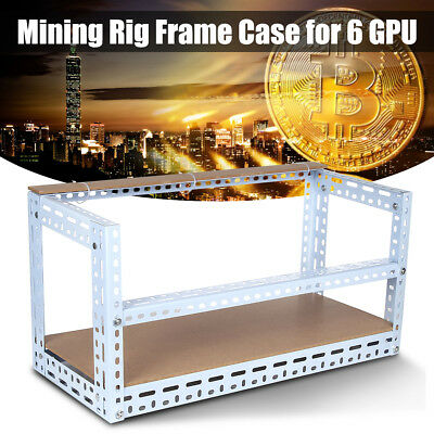 Crypto Coin Open Air Mining Miner Frame DIY Rig Case For 6 GPU ETH BTC Ethereum