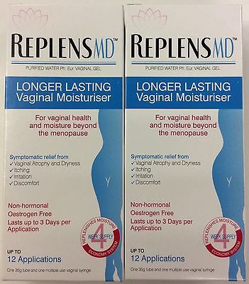 2 x Replens MD Vaginal Gel - Up to 12 Applications