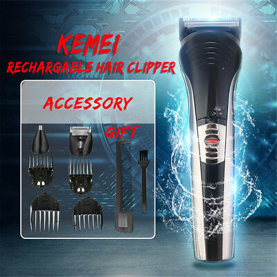 7in1 Cordless Mens Clipper Nose Beard Ear Grooming Hair Cutting Trimmer Shaver