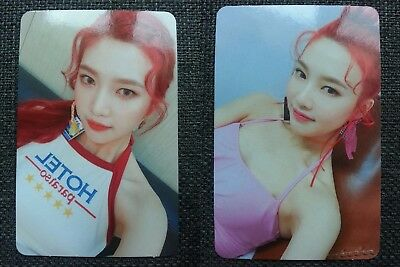 LOT of 2 RED VELVET JOY Official PHOTOCARD RED FLAVOR The Red Summer Album 조이