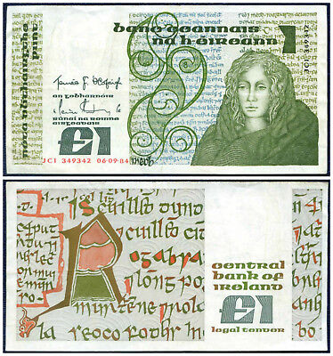1984 Central Bank Of Ireland £1 : One Pound