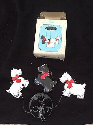 Russ Mini Wind Chime Managerie - Scotties Dogs -  Style No. 1906- Free Ship