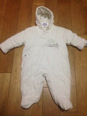 BNWT M&S Off White Unisex Baby Snowsuit All In One Coat Size 3-6 Months Free P&P