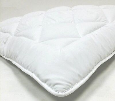 King Reversible Hypo-Allerginic Down Alternative Matress Topper Pad W/ Anchors