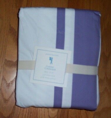 Pottery Barn Kids NEW Harper Purple Classic Cotton Full Size Bed Skirt