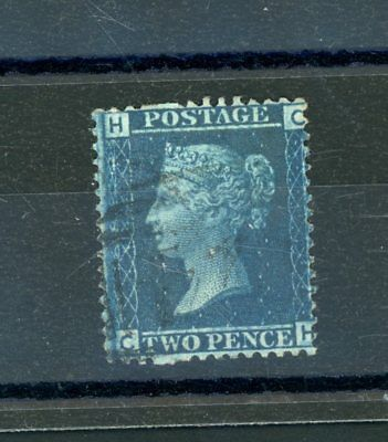 Great Britain  1858  2d blue  Plate 12,  'Broken Pin' Variety fine-used  (N1022)