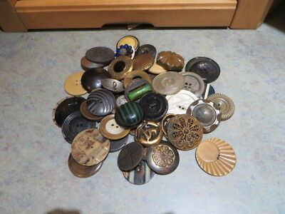 Group Of 49 Large Vintage Buttons -