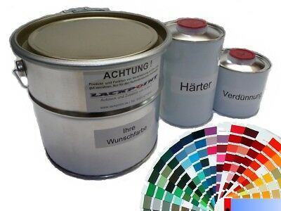 1 LITRE SET 2K Car Paint in choice of Colours Seat Gloss Uni No Clear Coat