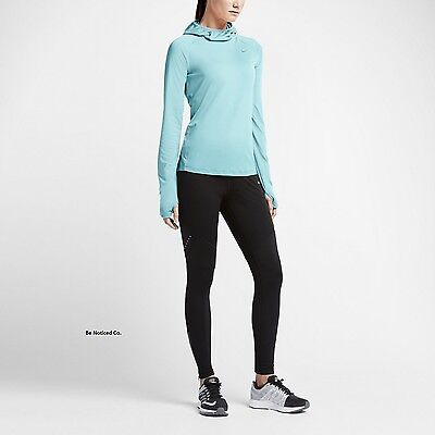 eddf436bec32 Nike Dry Element Women s Running Hoodie L Blue Top Copa Gym Casual Training  New