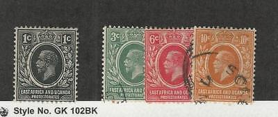 Kenya, Uganda KUT, Postage Stamp, #1 Mint Hinged, 2-4 Used, 1921