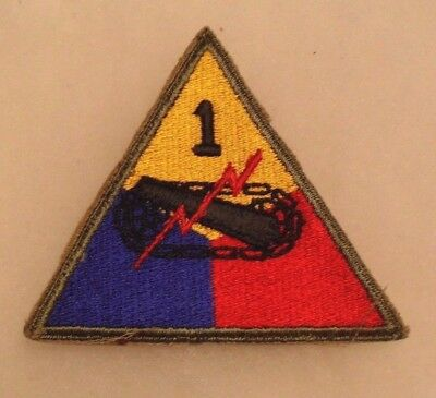 Wwii 1St Armored Div Emb W/ Od Border No Glow Original Ce Lots Of Eto Service