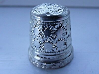 Vintage Thimble 1987 Solid Sterling Silver Hallmarked Swann Thimbles Excellent