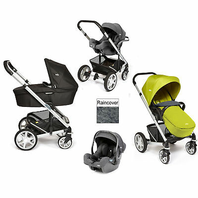 New Joie Green Chrome Plus I-Gemm Travel System Silver Frame From Birth