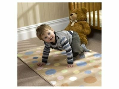 NURSERY PRINT BUBBLE MICRO FIBER WASHABLE CHILDRENS RUG MINK  70x 100cm NEW