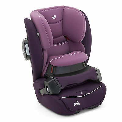 New Joie Lilac Purple Transcend Group 123 Car Seat Isosafe Adjustable Carseat
