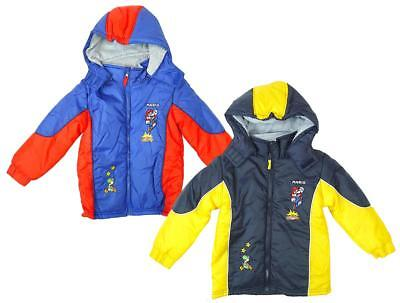 Boys Super MARIO Brothers Puffa Style Hooded Coat Jacket 3 to 8 Years