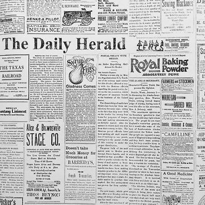 Magnolia Home The Daily Herald Newspaper on Sure Strip Wallpaper MH1508