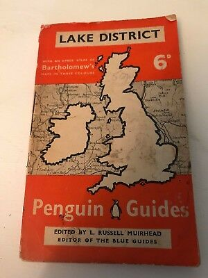 Vintage Retro 1939 Penguin Map Of The Lake District