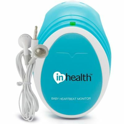 InHealth Fetal Doppler Pocket Size Baby Heart Rate Monitor Portable