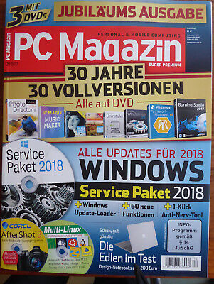 """PC Magazin Super Premium - PERSONAL + MOBILE COMPUTING"" + 3 DVDs Nr. 12/2017"