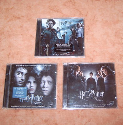 Harry PotterBlöcke+3 CD's-Soundtrack Feuerkelch,Gef.Askaban,Orden des Phoenix