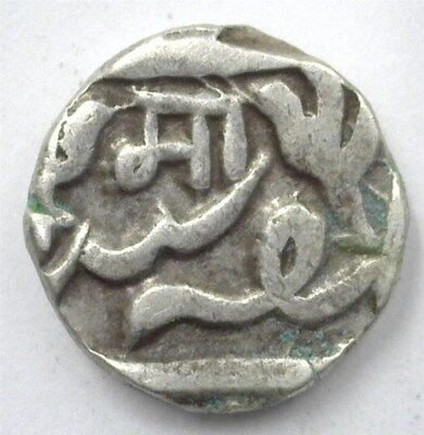 Gwalior, India States Ah(12)25 Silver 1/2 Rupee Km#31 Extremely Fine