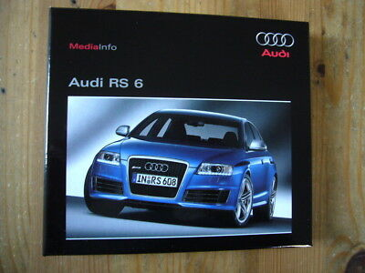 Audi RS6 press kit with a CD & 2 booklets in box, excellent condition, 2008