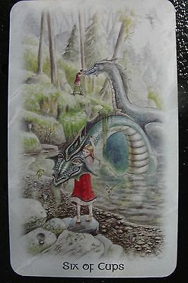 Six of Cups The Celtic Dragon Tarot Single Replacement Card Excellent Condition