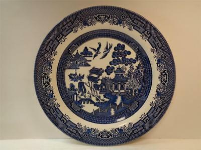 Churchill Blue Willow Ironstone 10.25 inch Dinner Plate England Excellent