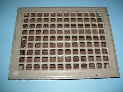 Vintage Louvered Floor Wall Heat Vent Grate Register