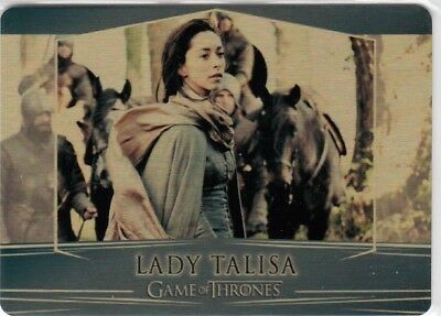 Game Of Thrones Valyrian Steel - Gold Parallel Metal Base Card 66 (009/100)