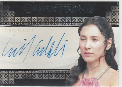 Game Of Thrones Valyrian Steel - Sibel Kekilli (Shae) Valyrian Autograph Card L