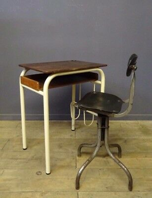 Vintage French School Desk, Industrial