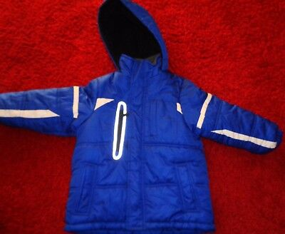 London Fog Boys Winter Jacket Hooded Puffer Coat Snow Insulated Size M 5/6