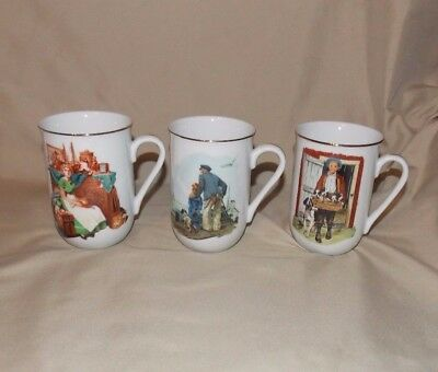Norman Rockwell Museum 3 Coffee Mug Out to Sea Puppy Love Dreams Antique Shop