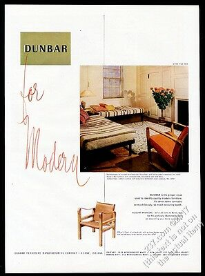 1950 Dunbar modern Edward Wormley bed Morris Chair Officer's photo vintage ad