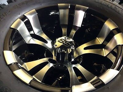 Golf Cart Wheel and Tire combo 23 inch custom wheels AND 6 inch lift kit for TXT