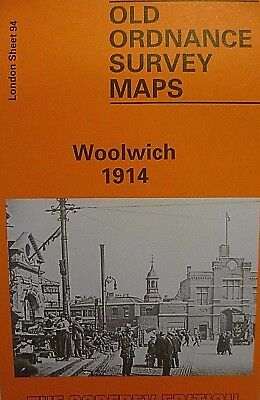 ORDNANCE SURVEY DETAILED MAP LONDON WOOLWICH 1914 Sheet 94 New