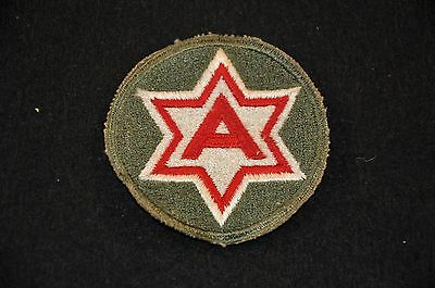 WWII US Army SSI Shoulder Sleeve Insignia Patch '6th Army' Cut Edge VG+
