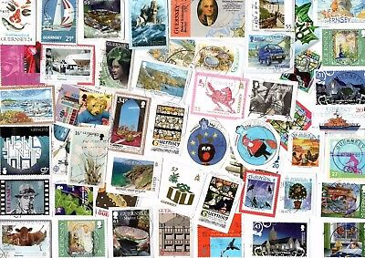 A Lovely Mix Of Mostly Recent Commemorative Stamps From Guernsey