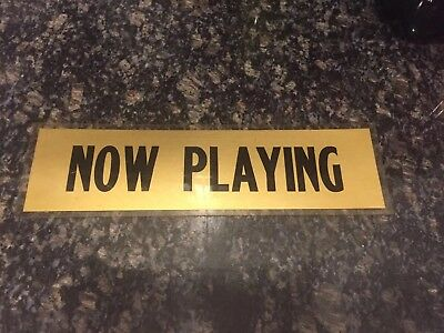 Vintage Movie Theater Poster Case Marquee Sign Now Playing