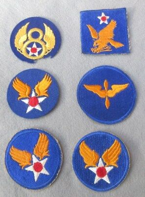 World War Ww Ii Lot Of Six 6 U.s. Army Air Corps Shoulder Patches
