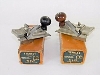 Superb Pair Of Stanley # 98 & 99 Side Rabbet Plane In Box With Fence Inv T4224