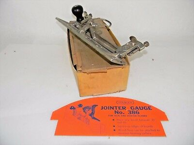 Minty New Old Stock Stanley # 386 Jointer Fence For Plane In Original Box T3779