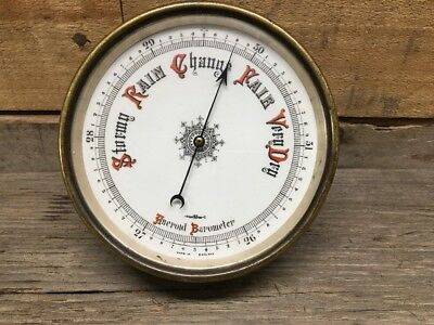 Antique Short & Mason London Aneroid Barometer Brass Made In England, Beautiful