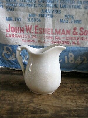 Small Antique White Ironstone Milk Pitcher K T & K China
