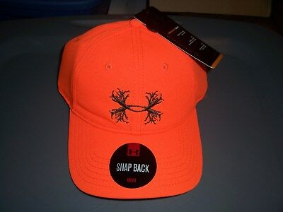 under armour blaze orange fitted hat