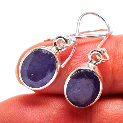 "Tanzanite 925 Sterling Silver Earrings 1 1/4"" Ana Co Jewelry E358470"