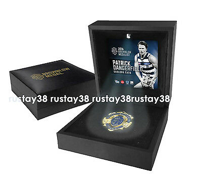 Patrick Dangerfield Geelong Cats 2016 Afl Boxed Brownlow Medal With Led Light